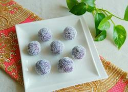 椰蓉芒果紫薯球