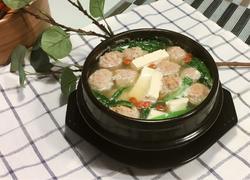 油麦菜肉丸豆腐汤