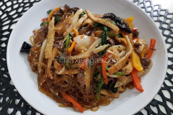 韩式炒杂菜 잡채