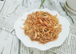 红萝卜丝炒河虾