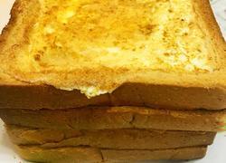 鸡蛋火腿烤面包片