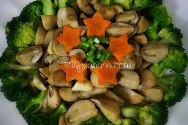 草菇炒西兰花