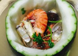 海鲜冬瓜盅火锅