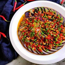 酱汁盘龙茄子