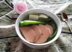 火腿青菜豆腐汤