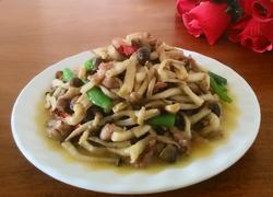 茶树菇炒肉丝