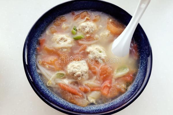 番茄豆腐肉圆汤