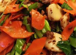 青菜肉末炒年糕