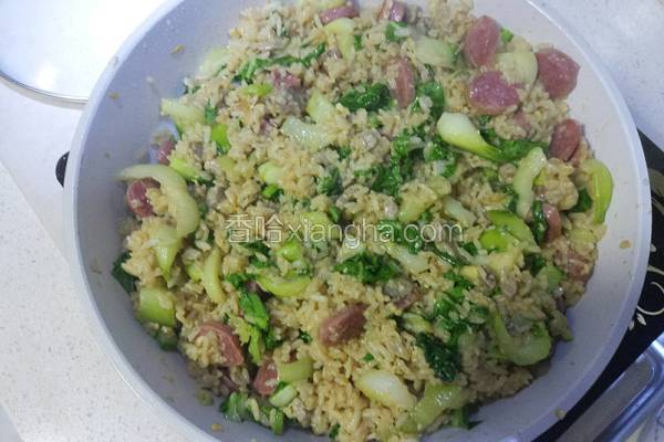 青菜牛肉炒饭