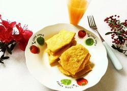 橙汁玉米面饼