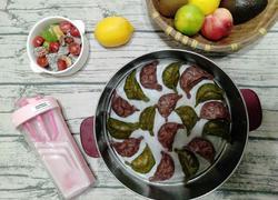 双色饺子(紫薯荞麦猪肉和全麦紫薯牛肉)