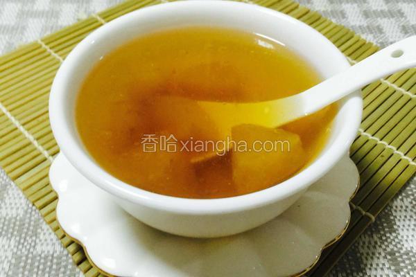 苹果梨雪莲子炖瘦肉汤