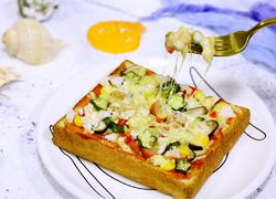 南极磷虾吐司披萨