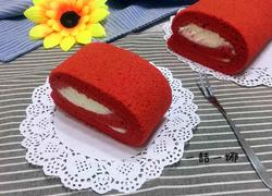 红丝绒奶油蛋糕卷