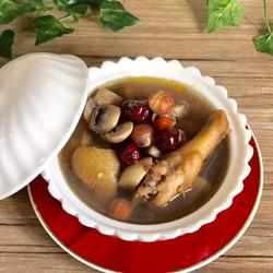 口蘑山鸡汤