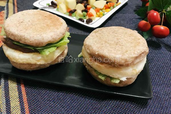 减脂健身餐(全麦牛肉蛋白堡)