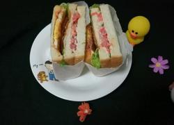 培根杂蔬三明治