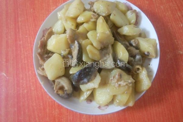鸡腿肉蘑菇土豆