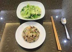 土猪香肠炒剩饭