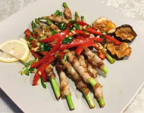 烤芦笋猪肉卷