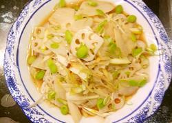 鲁菜大师蒋家菜菜品凉拌麻藕片