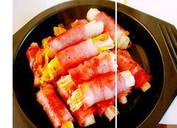 培根菇菜卷