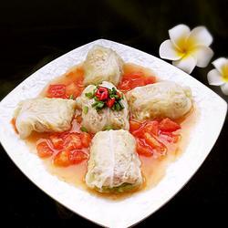 番茄白菜卷虾仁
