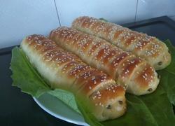 毛毛虫豆沙包(手揉版)