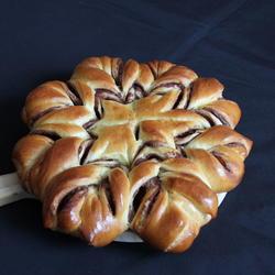 雪花状豆沙面包