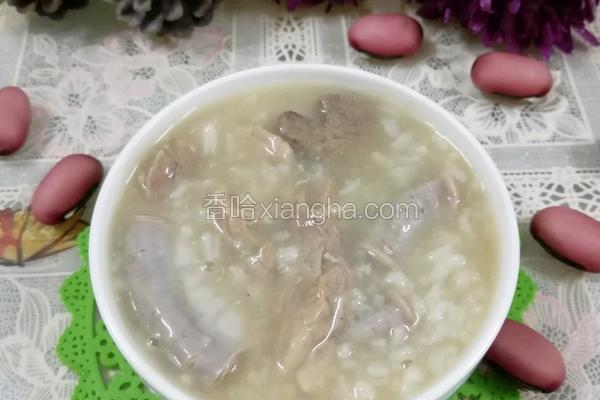 猪肝粉肠瘦肉粥