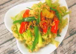 虾皮炒花菜
