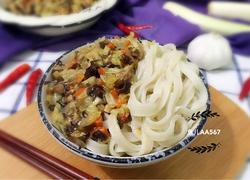 打卤面(白菜木耳胡萝卜肉丁卤)
