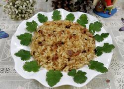 腊肉香菇糯米饭