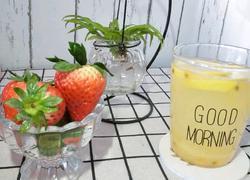 柠檬百香果蜂蜜水