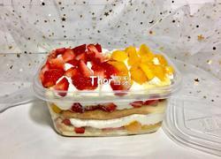 草莓芒果双拼盒子蛋糕