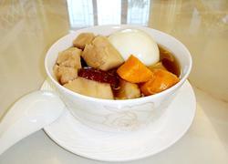 红枣鸡蛋芋头番薯糖水