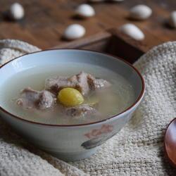 银杏猪排骨汤