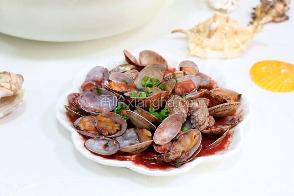 红糟炒花蛤