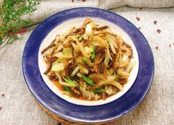 茶树菇炒白菜