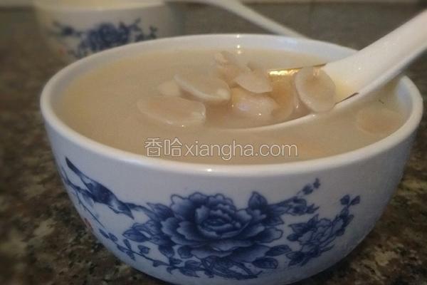 冰糖花生浓汤