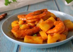 咖喱菠萝虾