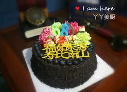 鲜花生日蛋糕