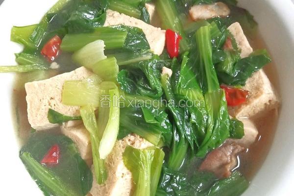 冻豆腐炖小白菜