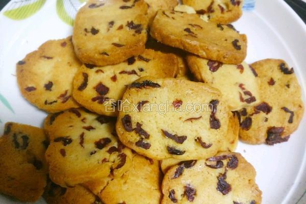 黄油蔓越莓饼干(烘焙新手都能做)