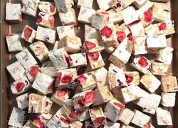 粉色少女心双莓雪花酥(熬糖版)