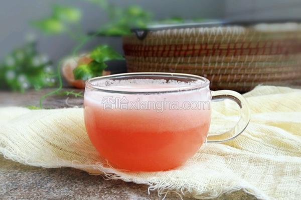 红心蜜柚汁