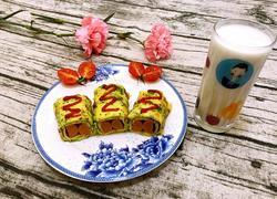 香菇西兰花鸡蛋卷
