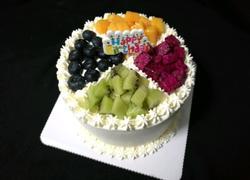 四拼水果生日蛋糕