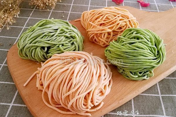 彩色蔬菜面