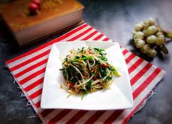 银芽炒韭菜